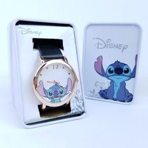 Disney Lilo & Stitch Nerd Glasses Rose Gold Watch